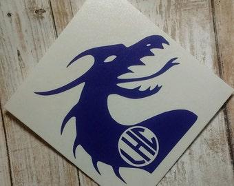 Dragon Decal/Dragon Slayer Monograms/Dragon Stickers/Tarragon Decals/ Monster Monograms/Yeti Cup/ Dragon Den/ Game Of Thrones Dragon
