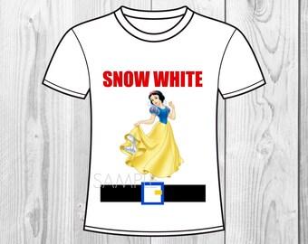 Snow White and the Seven Dwarfs Birthday Iron On Shirt Transfer - tshirt or clip art printable - Instant Download - Snowwhite