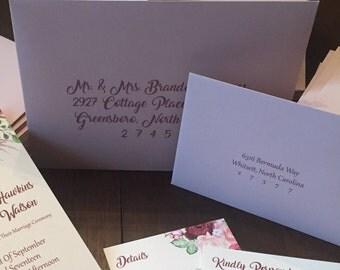 Return Addressing Service - RSVP Envelopes, Invitation Envelopes, Digital Print