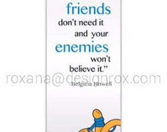 Motivational Bookmark - Friendship