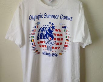 Vintage 1996 Atlanta Olympic Summer Games USA T-Shirt - Size XL - Made in USA
