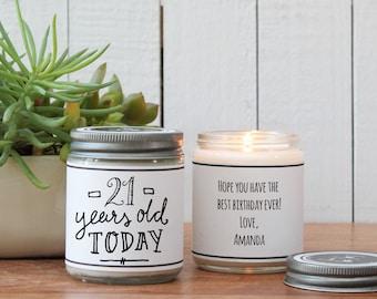 21st Birthday Gift Candle Greeting - Milestone Birthday Gift - ANY AGE | 21st Birthday Card | Send a Birthday Gift | Milestone Birthday Card