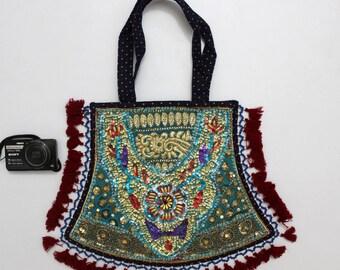 Handmade Ethnic Designer Tribal Banjara Patchwork Embroidered Hippy Fashionable Stylish Trendy Hippie Gypsy Boho Bohemian Fancy Bag G278