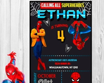 Spiderman invitation etsy solutioingenieria Gallery