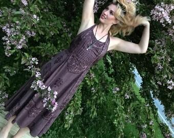 SHANGRI LA Embroidered Dress