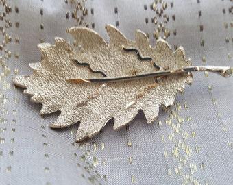 Vintage BSK Silver Tone Leaf Brooch - Signed BSK Leaf Brooch - Silver  Tone Leaf Brooch - Autumn Leaf Brooch - Classy Antique leaf broach