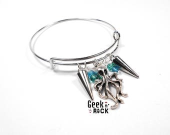 Steampuk octopus kraken Octopus squid bangle bracelet