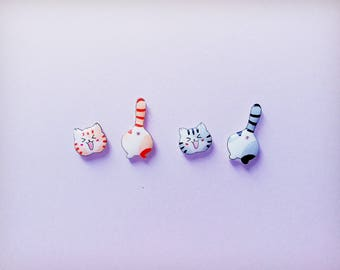 Cat earrings, Cat stud earrings, Cat jewellery, Animal earrings, Earrings, Cat lovers, Crazy cat lady,Cat lover gifts