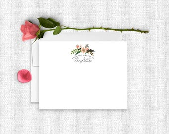 Baby Thank You Cards, From The Nursery Of, Personalized Baby Stationery, Baby Stationary,  Baby Shower Gift, Baby Stationery Set, Floral