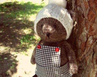 Artist mini teddy bear Little crochet bear Sleeper bear Memory Teddy bear Collectible bears Plushie bear Fluffy teddy bear Amigurumi bear