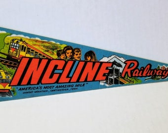Incline Railway, Lookout Mountain, Tennessee - Vintage Pennant