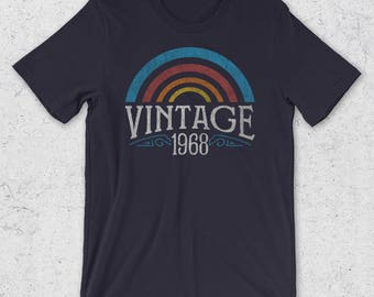 50th Birthday Gifts for Men & Women - Vintage 1968 T-Shirt- Retro -50th Birthday Gift Ideas -1968 Shirt -50th Birthday Shirt -1968 Gifts