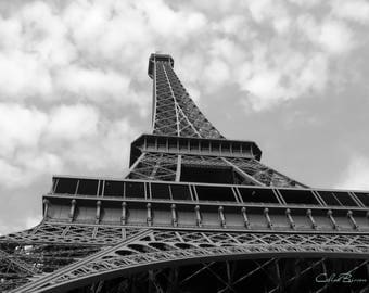 Eiffel Tower a view from below, Paris, France