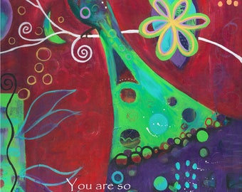 So Beautiful -040-Mixed Media Painting by Carianne James