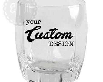 Customized 12 oz. Thick-Base Rocks Glasses