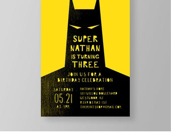 Superhero Birthday Party Invitation, Instant Download, Printable Boy Superhero Invite Template, Modern, 100% Editable, Templett  #052BBD