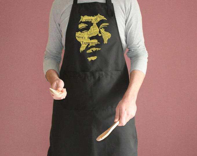 Jimi Hendrix Apron with pockets