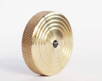 """1.34"""" Brass Top, Metal Spinning Top, Spinning Top, Spin top, EDC, Spinning Coin, Precision Spinning Top"""