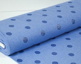 Sweat glitter Dots-blue-Heather