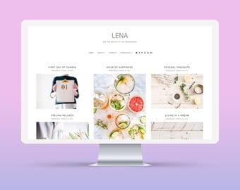 SALE! Lena | Responsive Minimalist Premade Blogger Template