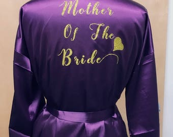 PERSONALIZED Back/Front  Robe Bridal Shower, Bride To Be, Bachelorette, Bridesmaid, Kimono gown   Size S-XXL