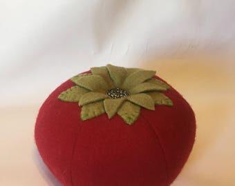 Handmade Vintage Wool Tomato Pincushion