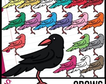 Colorful Crow, Bird Clip Art