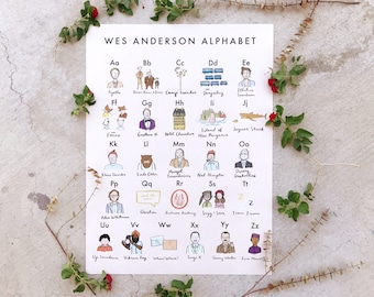 Wes Anderson Alphabet Poster 18x24 - Kid's Room