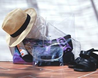 BUNDLE > Beach Tote bag + Mini pochette, pouch, crossbody