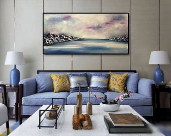 Abstract Painting of Mountains Oil Painting Modern Art  Large Wall Art  Abstract Oil Painting Original Painting  by Julia Kotenko