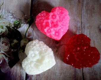 Natural Soap Gift homemade Heart soap Gift for her Organic Bridal Shower favors For wife Handcrafted Soap favors No Palm oil Handmade heart