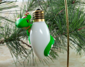 Dragon Ornament, Christmas Dragon, Christmas Dragon Ornament, Dragon Christmas Ornament, Green Dragon, Magical Ornament, Christmas Dragon