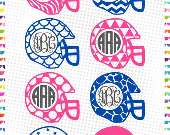 Football Helmet SVG - football svg - Football Helmet Design - INSTANT DOWNLOAD vector files for cutting machines - svg, png, dxf, eps, jpg
