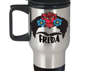 Frida Travel Mug, Frida Coffee Mug, Frida Mug, Frida Kahlo
