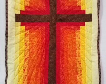 Handmade Cross Quilted Wall Hanging