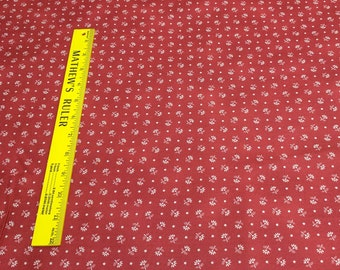 Gettysburg Era-Red Leaf Sprig Cotton Fabric Designed by Sara Morgan for Washington Street Studio