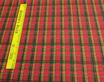 Old World Christmas-Red Plaid Cotton Fabric from SPX Fabrics