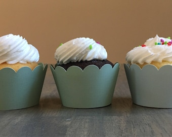 Green/Mint Cupcake Wrappers