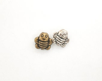 Rusty Patch Bee Charm - Bumble Bee Charm - Bee Charm Pendant - Endangered Species Jewelry