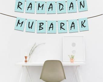Printable Letters, Ramadan Mubarak Banner, Instant Digital Download