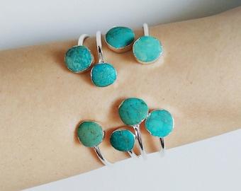 Turquoise jewelry Turquoise bracelet Boho jewelry Silver bracelet women Turquoise Bangle Turquoise silver Gemstone bracelet Silver jewelry