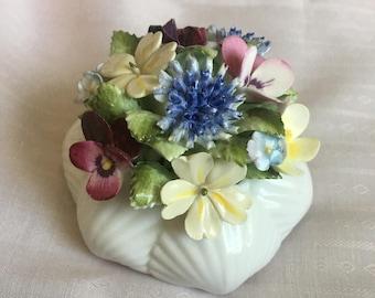 Royal Doulton Bone China Flower Bouquet Made in England ~ Porcelain Flowers ~ Colorful Flower Bouquet ~ Vintage Flower Bouquets