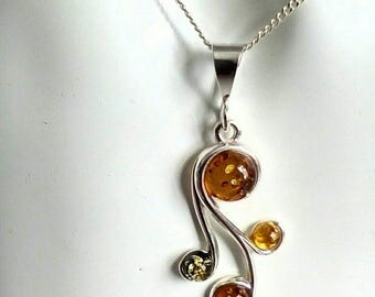 Baltic Amber Pendant ~ Baltic Amber ~ Amber Pendant ~ Silver Pendant ~ Baltic Jewelry ~ Amber Necklace ~ Amber Jewelry ~ Gift For Loved One