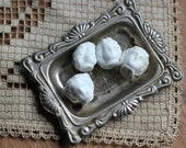Four Tiny Salvaged Antique Frozen Charlotte Heads from Germany c1890 for Art or Repurpose