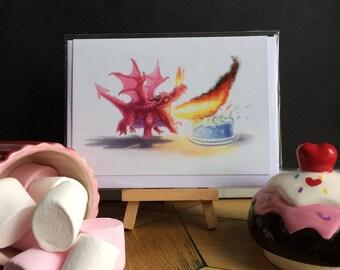 Birthday Dragon Greeting Card Blank Inside