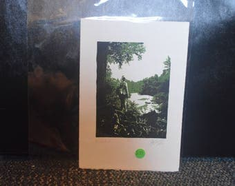 "Two Color, Black/Green,  Lithographic Print - ""Adventure"" 7.75"" x 11.5"" - Edition/Artist Proof"