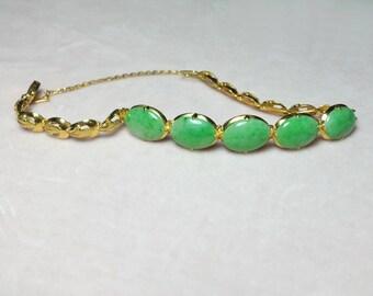 Antique Jadeite Jade Bracelet Chinese 20k