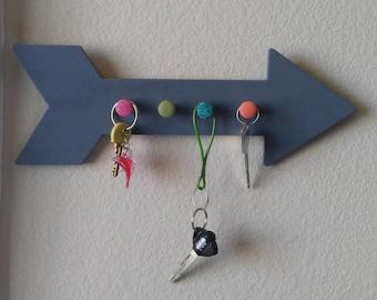 Arrow Key Holder, Key Rack, Arrow Wall Decor, Kid's Room Rack, Key Hanger, Key Hooks