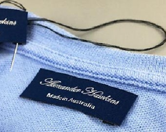 CUSTOM clothing woven neck labels for t shirts, custom neck woven labels, t shirt back neck label