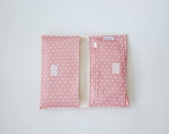 Change pouch - pink small dots
